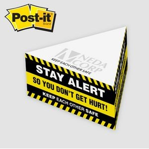 Post-it� Notes Custom Printed Half Triangle Cube Note Pad (3 3/4